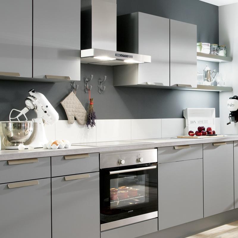 Idee peinture cuisine meuble gris