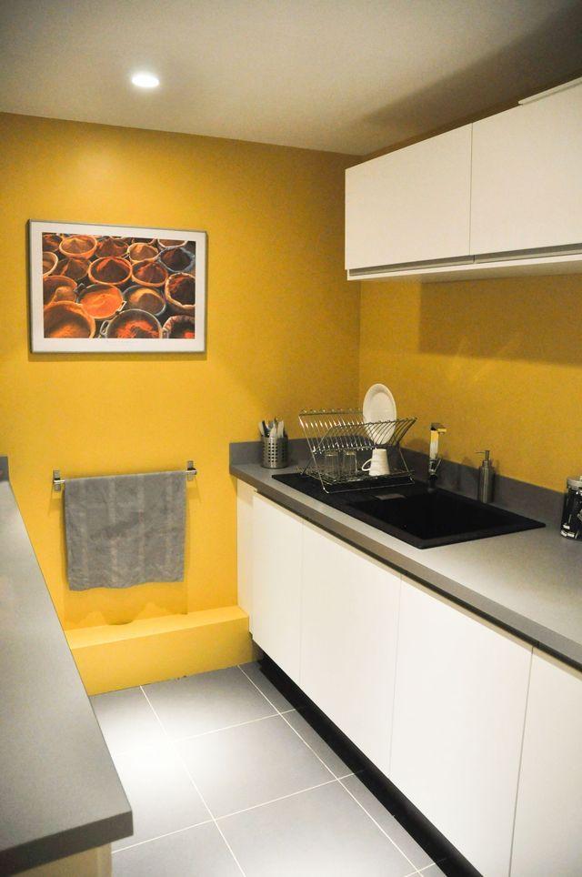 Peinture cuisine jaune orangé