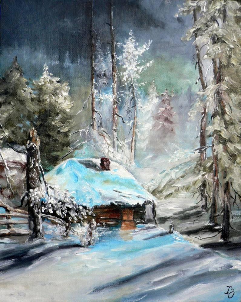 Peindre maison en hiver