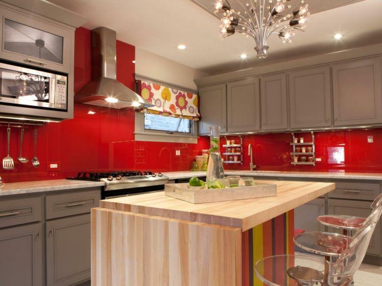 Deco peinture cuisine rouge