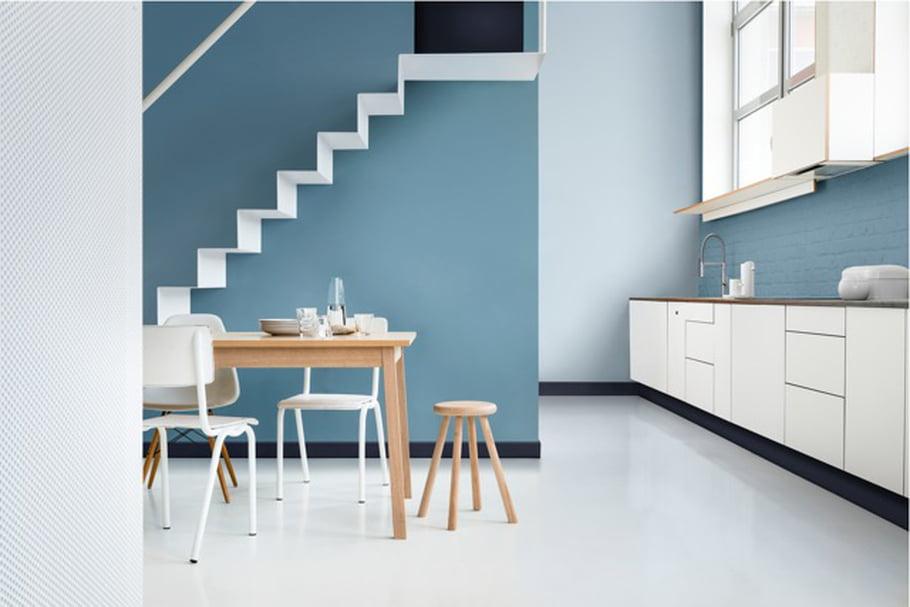 Peinture cuisine turquoise