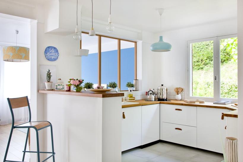 Idée peinture avec cuisine blanche
