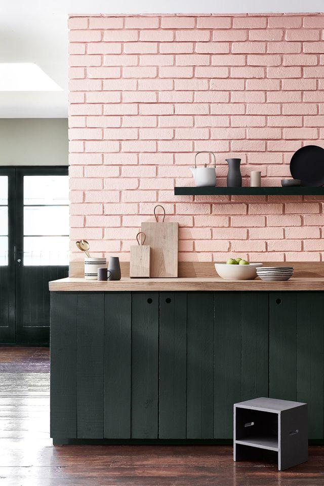 Peinture cuisine rose et gris