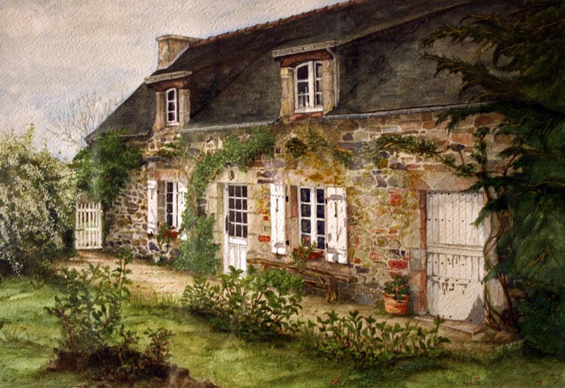 Peindre une maison en aquarelle