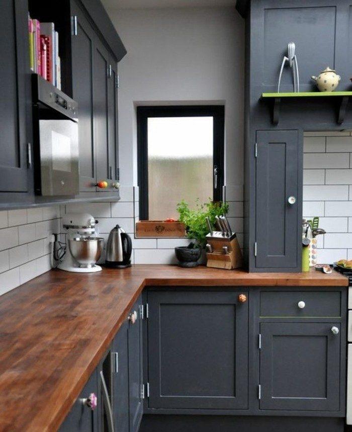 Peindre meuble cuisine en gris