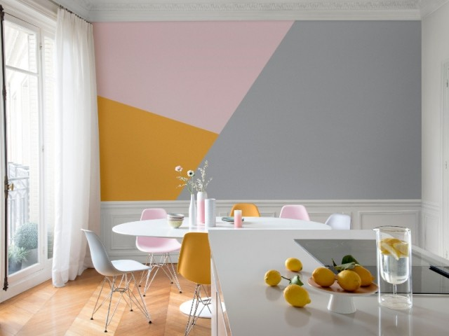 Decoration peinture triangle