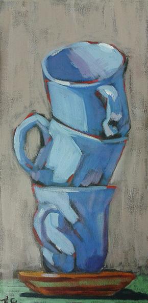 Peinture acrylique sur tasse