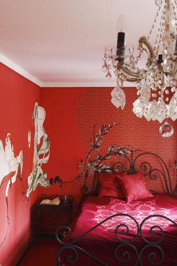 Deco peinture chambre rouge