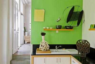 Peinture cuisine vert kaki