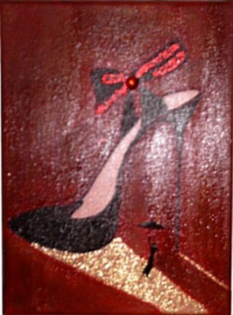 Peinture acrylique chaussure