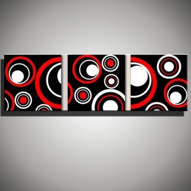 Peinture acrylique mur rouge