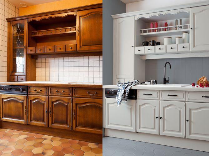 Peindre meuble cuisine bois
