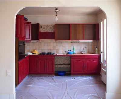 Peinture pour meuble de cuisine rouge