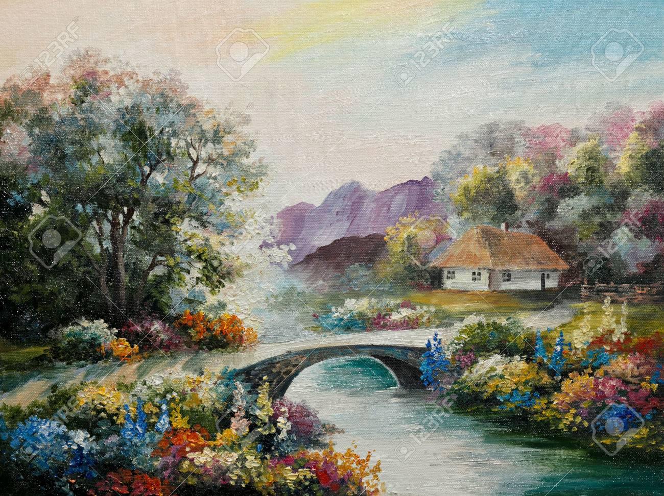 Peindre une maison sur toile
