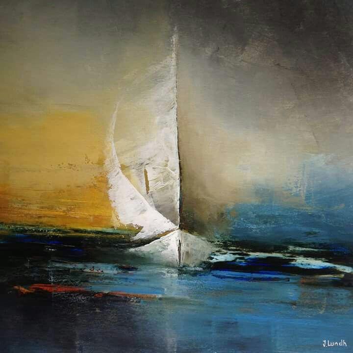 Peinture acrylique bateau