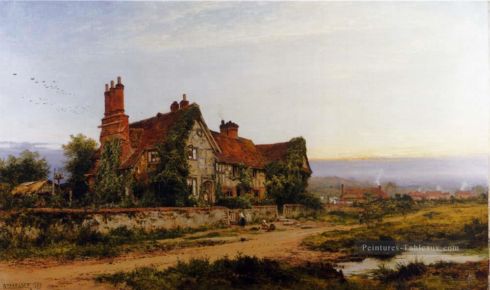 Peinture vieille maison