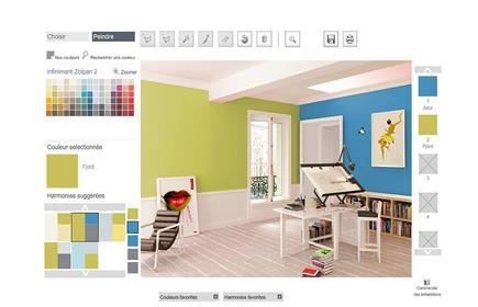 Simulation deco peinture chambre