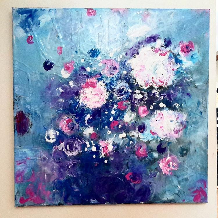 Peinture acrylique de fleurs