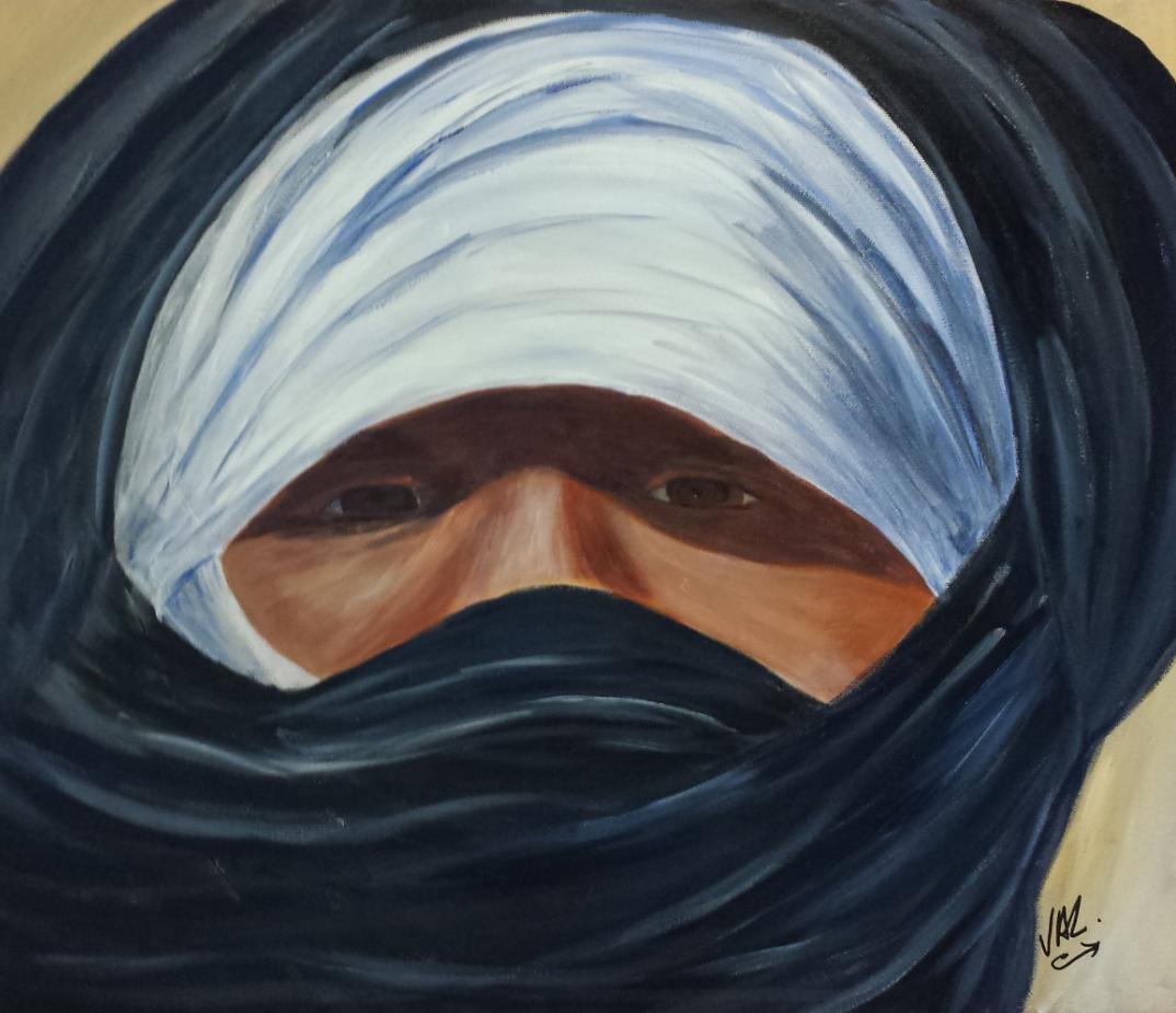 Peinture de touareg acrylique sur toile