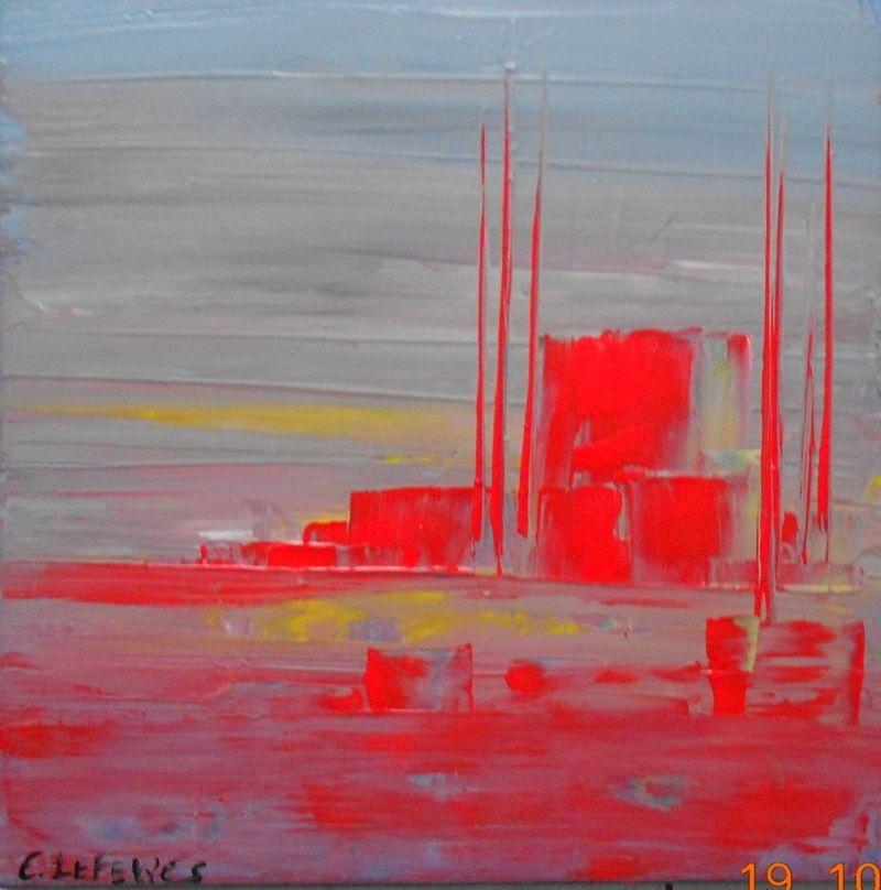 Peinture acrylique et chaleur