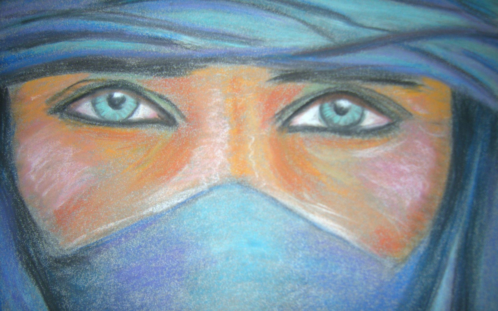 Peinture acrylique yeux
