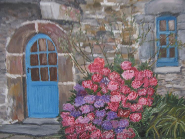 Peinture maison bretonne