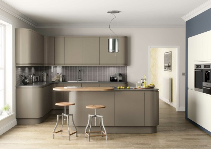 Peinture meuble cuisine gris clair