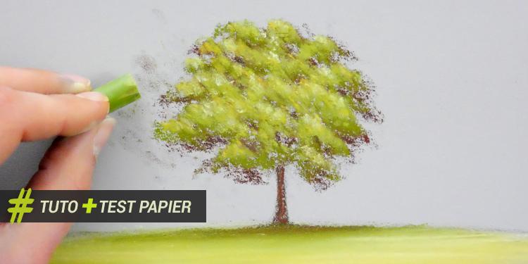 Peinture acrylique peindre un arbre