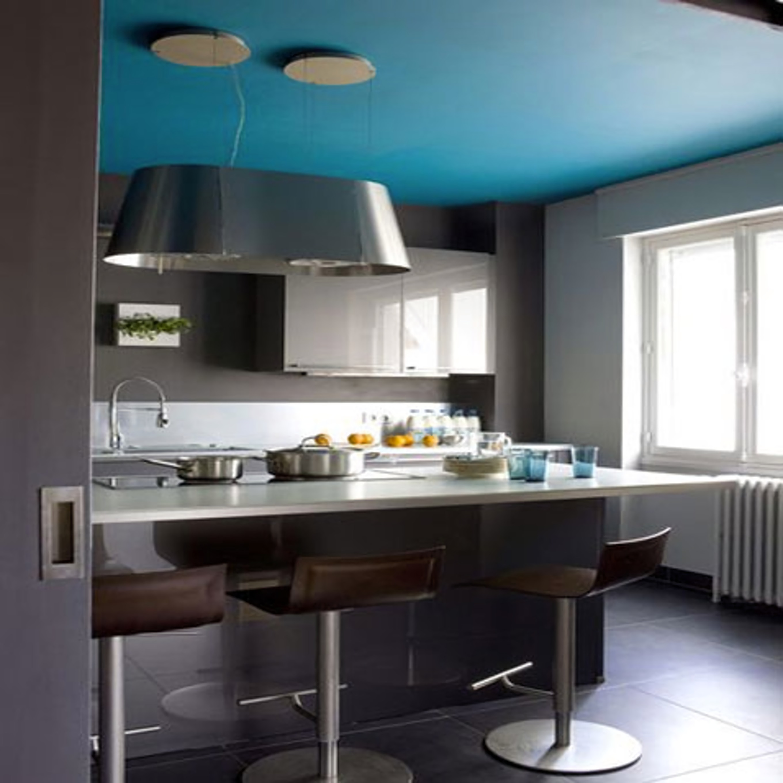 Peinture plafond cuisine ouverte
