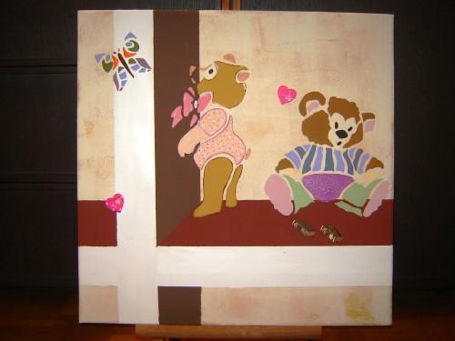 Peinture acrylique chambre