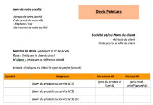 Exemple devis travaux peinture pdf