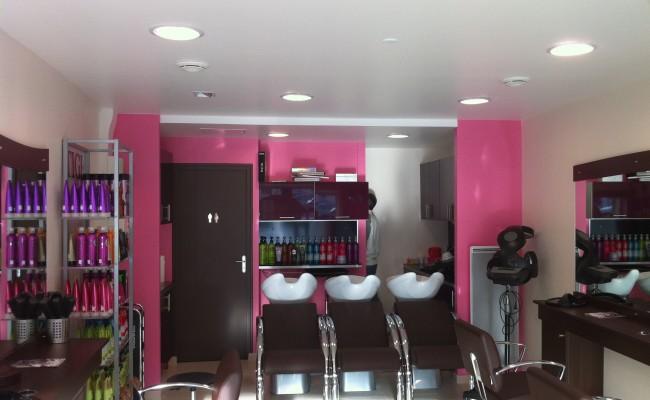 Deco peinture salon de coiffure
