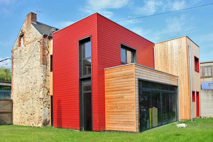 Peinture maison moderne exterieur