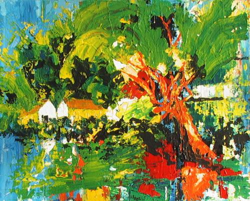 Peinture acrylique jungle