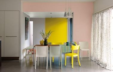 Peinture maison rose