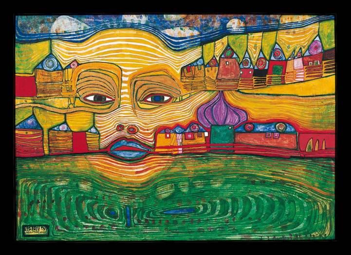 Hundertwasser peinture maison