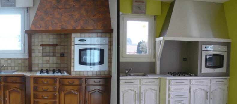 Peindre cuisine chene rustique