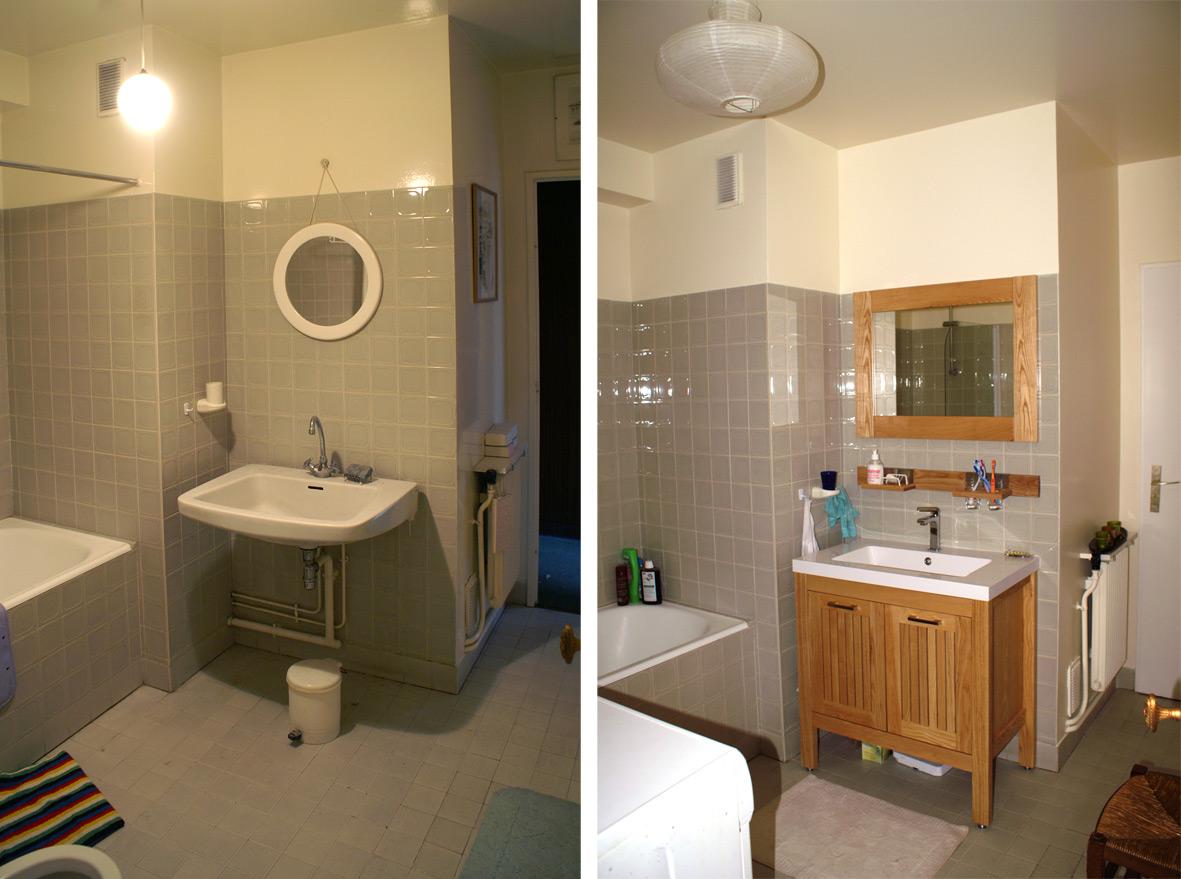 Peindre carrelage salle de bain avant apres - Livreetvin.fr