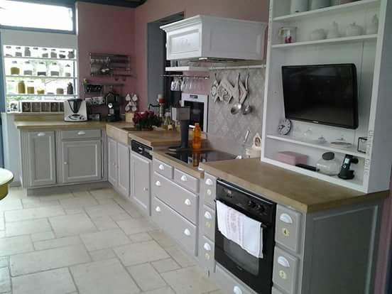 Peindre cuisine gris et blanc