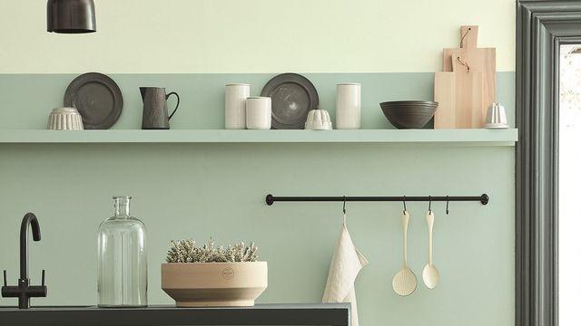 Peinture cuisine gris vert