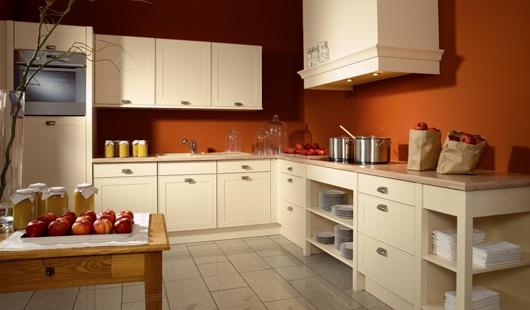 Peinture cuisine avec meuble marron