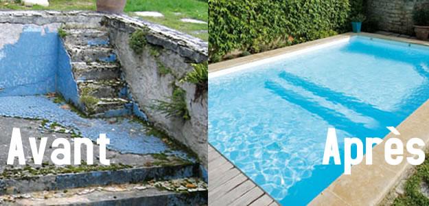 Peinture carrelage piscine