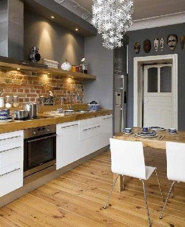 Couleur peinture cuisine meuble blanc