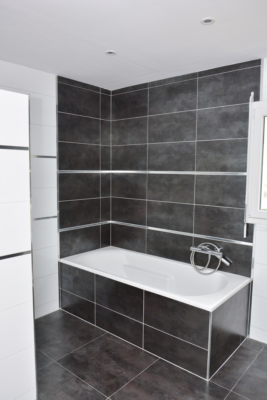 Peinture carrelage salle de bain gris anthracite - Livreetvin.fr