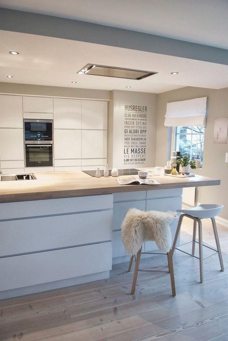 Idee peinture cuisine meuble beige