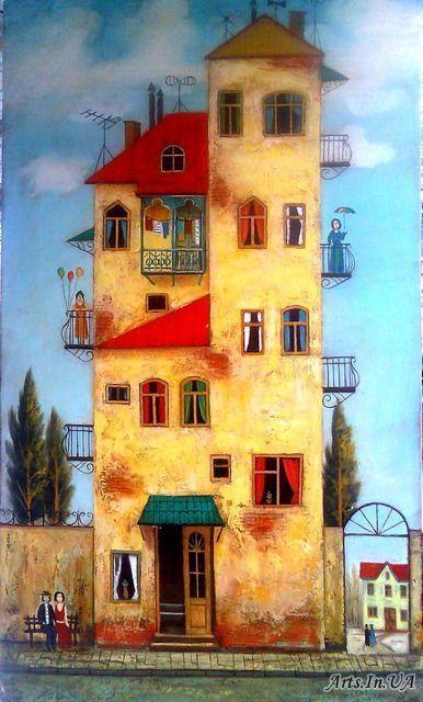 Peinture maison naive