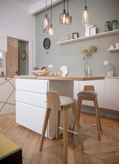 Peinture pour cuisine blanche et bois