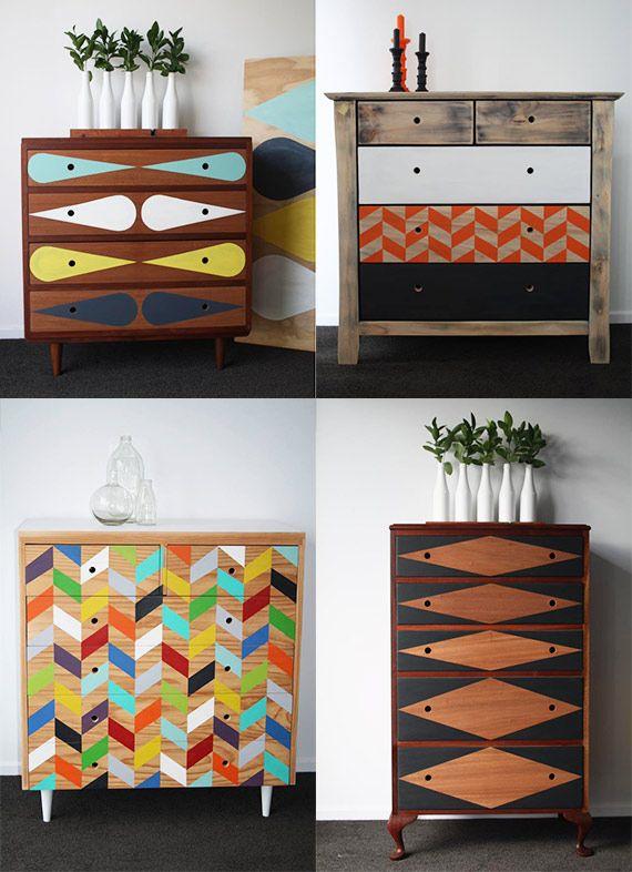 Peinture décorative pour meuble bois