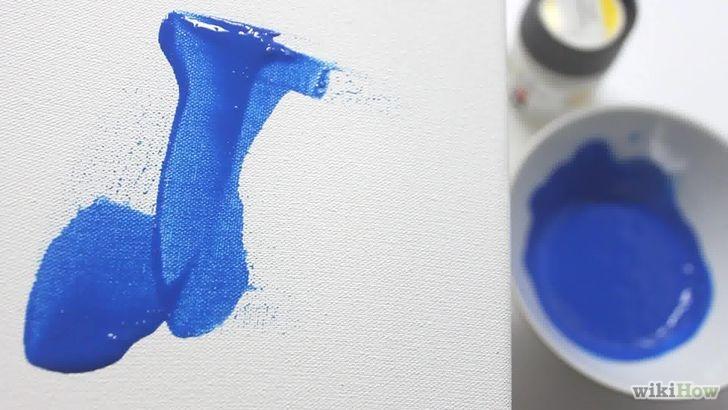 Comment diluer la peinture acrylique sur toile