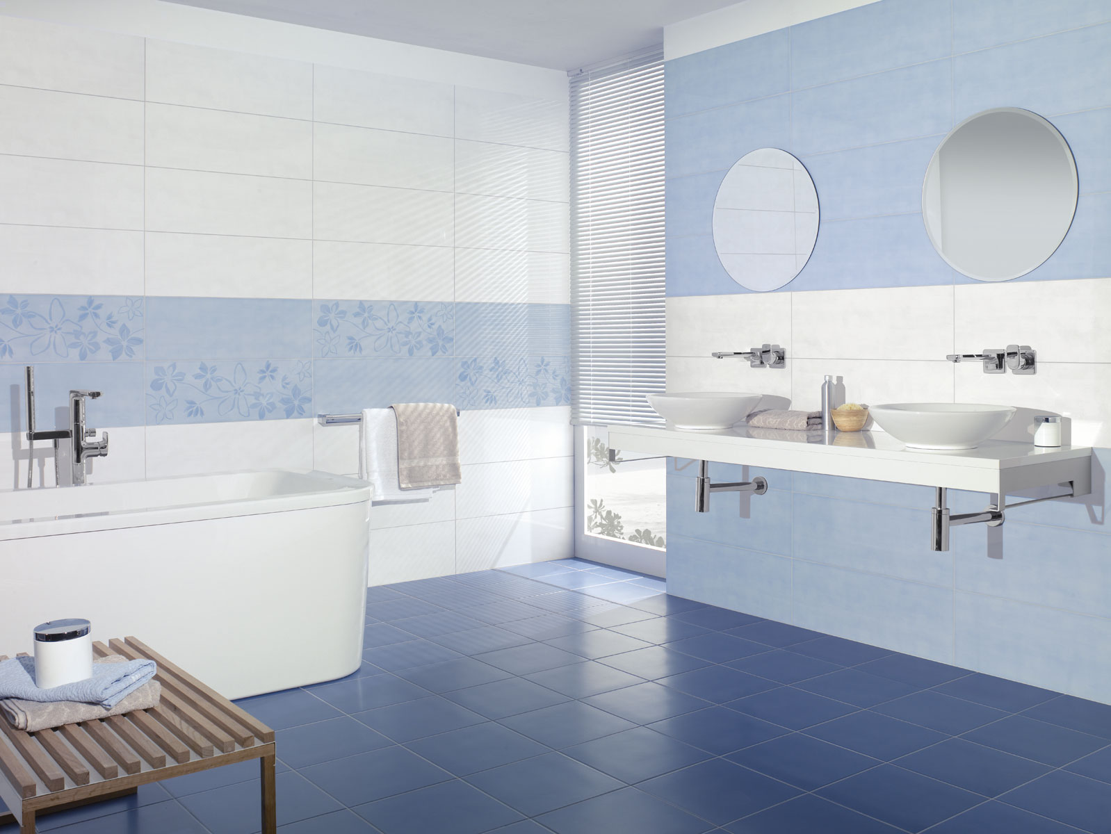 Peinture carrelage bleu lagon - Livreetvin.fr
